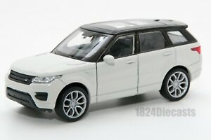 Range Rover Sport white, Welly 43698F, scale 1:34-39, model toy car gift