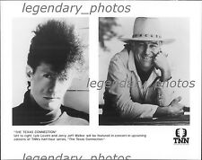 """The Texas Connection"" Lyle Lovett & Jerry Jeff Walker Original Press Photo"