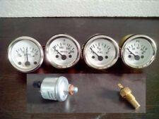 With Oil temp Sender 52mm Electrical Oil Pressure Temp Amp Fuel Gauge-WH