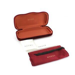 Gucci Hard Shell Velvet Gucci Sunglasses & Eyeglass Case-cloth / pouch / manual