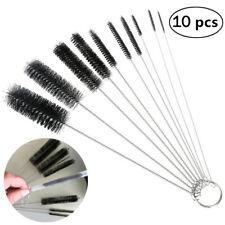 OUNONA 10Pcs Nylon Tube Brushes Straw Set for Drinking Straws Glasses Keyboards