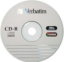 10 CD R VERBATIM 700 MB 52X80MIN INSERITI NELLE 10 BUSTINE aletta