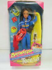 Mattel Barbie 1994 BAYWATCH TERESA DOLL Foreign Issue #10148 NRFB LONG SURFBOARD