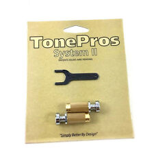 TonePros SNS1 Chrome Locking SAE Stop Tailpiece Studs USA Gibson® TP-0456-010
