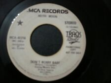 KEITH MOON DON'T WORRY BABY PROMO DJ 45 RECORD