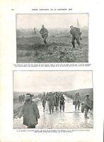 WWI Offensive Bataille de Verdun Prisonniers Feldgrau Route Fleury ILLUSTRATION