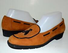 SALVATORE FERRAGAMO Belgian Loafer Suede Leather 7 ITALY Shoes tassle TImeless!