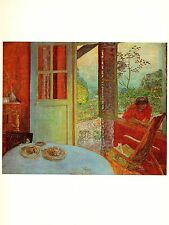"1969 Vintage BONNARD ""DINING ROOM IN THE COUNTRY"" COLOR offset Lithograph"