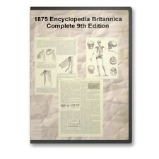 1875 Encyclopedia Britannica: Complete 25 Volume 9th Edition - E27