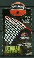 Spain 2019 Basketball Euroleague Unique Unusual Die-cut Real Net affixed stamp