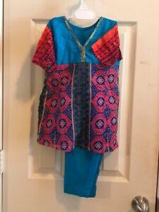 Indian Pakistani Girls  Toddler 2 PC Lawn /  Cotton Kameez Trouser Suits