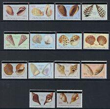 More details for angola : 1981 seashells set overprinted with black bars sg 766-779 mnh