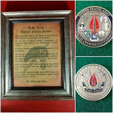 Mc-Better: Socom Coin and Personalized Special Forces Prayer Framed