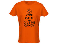 Keep Calm And Give Me Candy Womens Halloween T-Shirt (12 Colours)