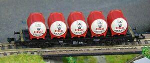 "FLEISCMANN 8230K   EKU container wagon    ""BOXED""  N Gauge (F1239)"