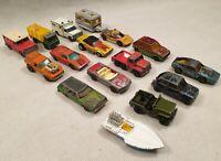 Vintage Matchbox Superfast Die Cast Vehicle Bundle Toy Car Bundle 1970s 1980s
