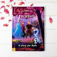 Personalised Frozen 2 Disney Book Adventure Story Book Kids Birthday Gift Girls