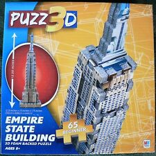 PUZZ 3D FOAM BACKED MINI MILTON BRADLEY EMPIRE STATE BUILDING PUZZLE NEW 65 PCS