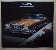 Pontiac GRAND VILLE ORIG 1974 USA titoli di grande formato SALES BROCHURE