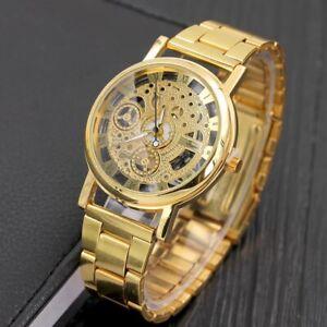 Hollow Design Steel Watches UNISEX Retro Quartz Wrist watch Luxury New Trendy
