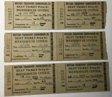 More details for 6 x british transport commission seat ticket - 1959 bournemouth central