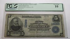$5 1902 Commerce Oklahoma OK National Currency Bank Note Bill! Ch. #10689 PCGS