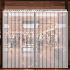 """VEVOR 8' x 8' Strip Door Curtain 96"""" x 96"""" Cooler Freezer 8"""" Walk In Vinyl PVC"""