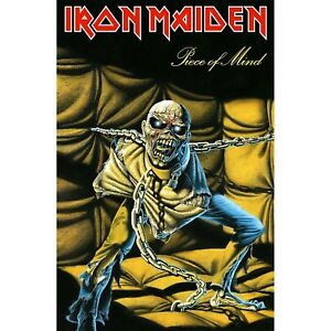 Iron Maiden Piece Of Mind large fabric poster / flag  1100mm x 750mm (rz)