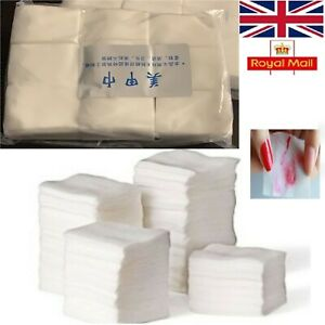 900 Lint Free Nail Wipes Soft Dry Wipes Acrylic Gel Polish Remover UK SELLER