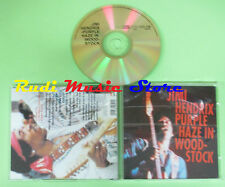 CD JIMI HENDRIX Purple haze in woodstock 1992 ITM 960004 (Xs1) no lp mc dvd