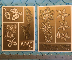ULTRA RARE ANNA GRIFFIN CRAFTS HOLIDAY FOLIAGE DIES WINTER XMAS CARD SETS