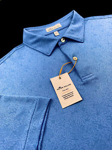 Peter Millar Crown Sport Summer Comfort Floral Jacquard Print Performance Polo
