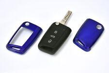 Für VW Skoda Seat Blau Schlüssel Cover Key Cover Schlüssel Funk Fernbedienung