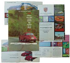 Prospetto PORSCHE 356b originale in inglese, 8 pagine stampate, - RARO -