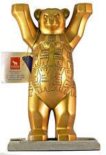 "UNITED BUDDY BÄR ""Golden Rule"" NEU/OVP 22cm Glaspatte Berlin Souvenirs Bear Gold"