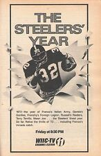 1973 TV GUIDE~PITTSBURGH STEELERS FOOTBALL FRANCO HARRIS~PETER FALK COLUMBO~NFL