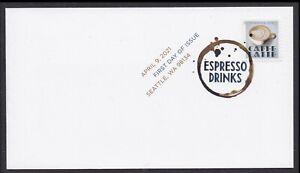 US 5569 Espresso Drinks Caffe Latte DCP FDC 2021