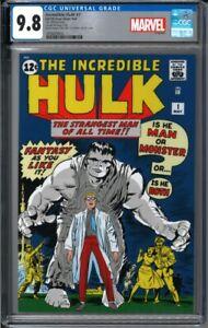 2019 Incredible Hulk #1 - 1 oz Silver Foil Cover CGC 9.8 - 1000 Made