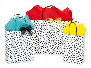 DALMATIAN DOTS Design Party Gift Paper Bag ONLY Choose Size & Pack Amount