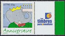 """2006 FRANCE N°3927A** PERSONNALISE Bandes dessinée BABAR logo """"TP"""""""