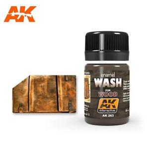 AK Interactive AK263 Weathering Wash for Wood Enamel 35mL Brand New