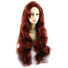 Wiwigs ® Beautiful Long Curly Copper Red Wavy hair skin top Ladies Wig