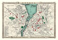 George Bradshaw'S CONTINENTAL Città Piano di Ginevra 1896 - 1000 Pezzo Puzzle
