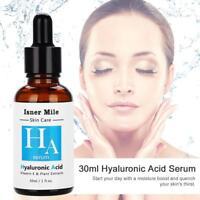 Pure 100% Hyaluronic Acid Serum HA Collagen Anti Aging Wrinkle Cream Hydration