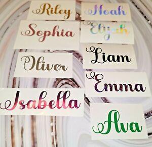 IRON ON, Personalised Name Sticker Vinyl Decal, Hen Do,birthday, wedding, xmas