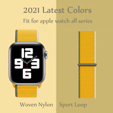 Nylon Sport Loop iWatch Band For Apple Watch Series 6 5 4 3 2 1 SE 40mm 44mm