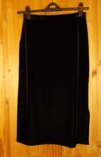 PRINCIPLES black velvet velour stretch wiggle pencil midi knee length skirt 10