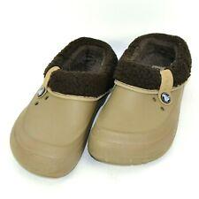 Crocs Blitzen II Fuzz-Lined Comfort Clog Shoes Womens Size 8 US Tan Brown 14461
