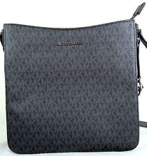 Michael Michael Kors Jet Set Travel Black PVC MK Logo Large Messenger Bag