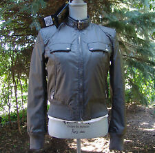 Authentic Belstaff Stylish Womens Fitted Wren Bomber Jacket EU 42 Made In Italy